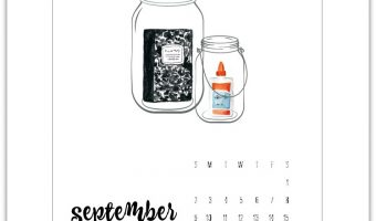 September Calendar Page (& August Too)