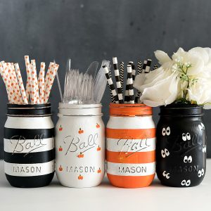 Halloween Painted Mason Jar Sets