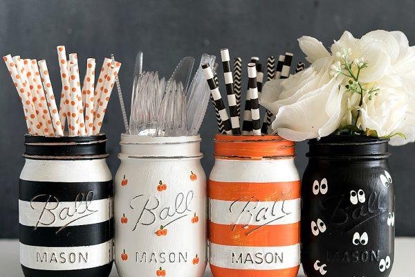 Halloween Painted Mason Jar Sets