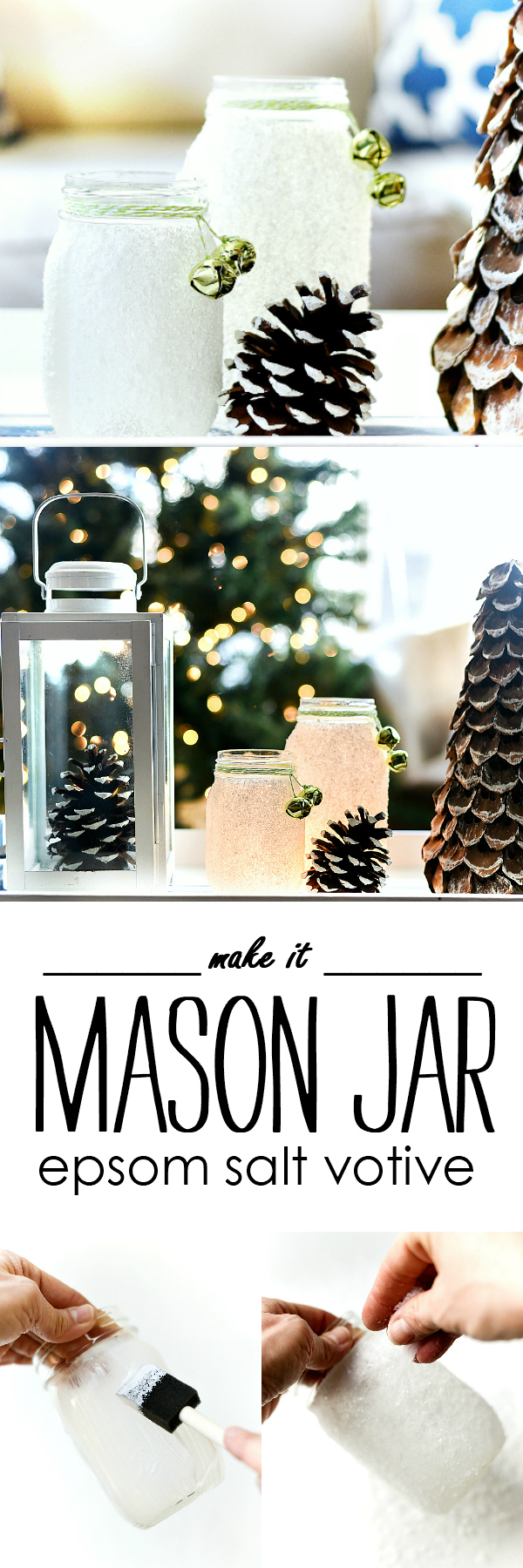 Epsom Salt Holiday Mason Jar - Mason Jar Holiday Crafts - Mason Jar Christmas Crafts