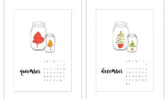 Free Calendar Page Printable – November & December