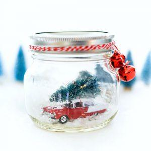 Vintage Car in Jar Snow Globe