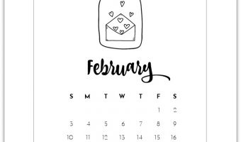 February Mason Jar Calendar Page