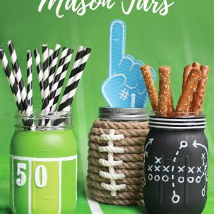 Football Mason Jars DIY