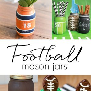 Football Party Mason Jars - Super Bowl Party Decorating Ideas