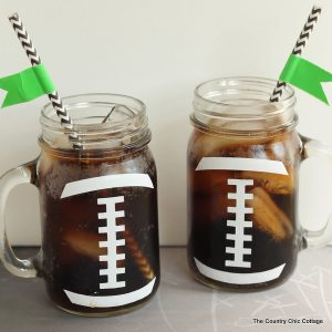 Football Party Mason Jar Craft