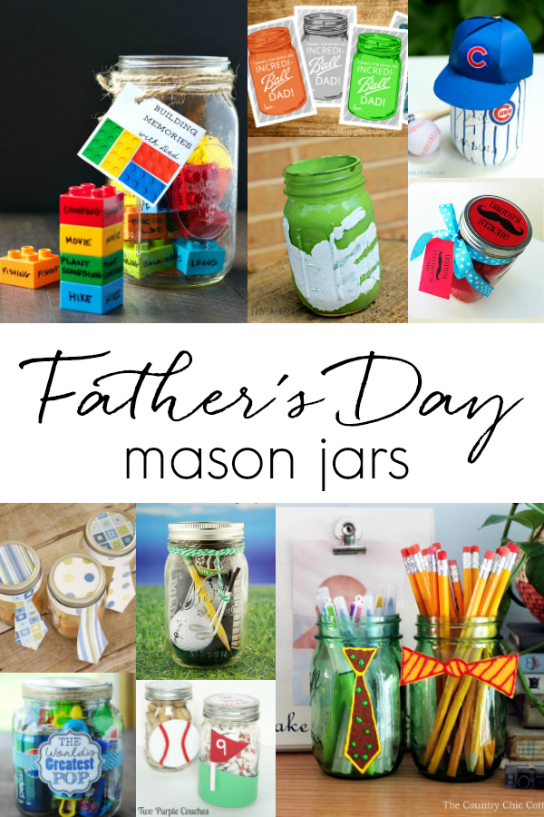 Father's Day Mason Jar Gift Ideas - Kid's Crafts for Father's Day - Homemade Father's Day Gifts @Mason Jar Crafts Love blog