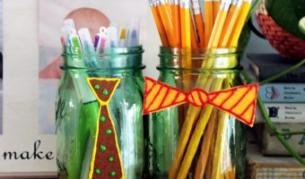 Father's Day Mason Jar Kid Craft - Easy Father's Day Craft Ideas for kids