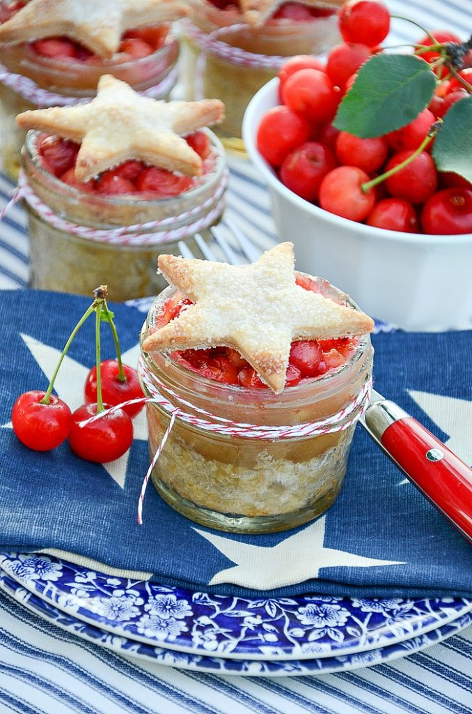 Cherry Pies in Mason Jars at Stone Gable