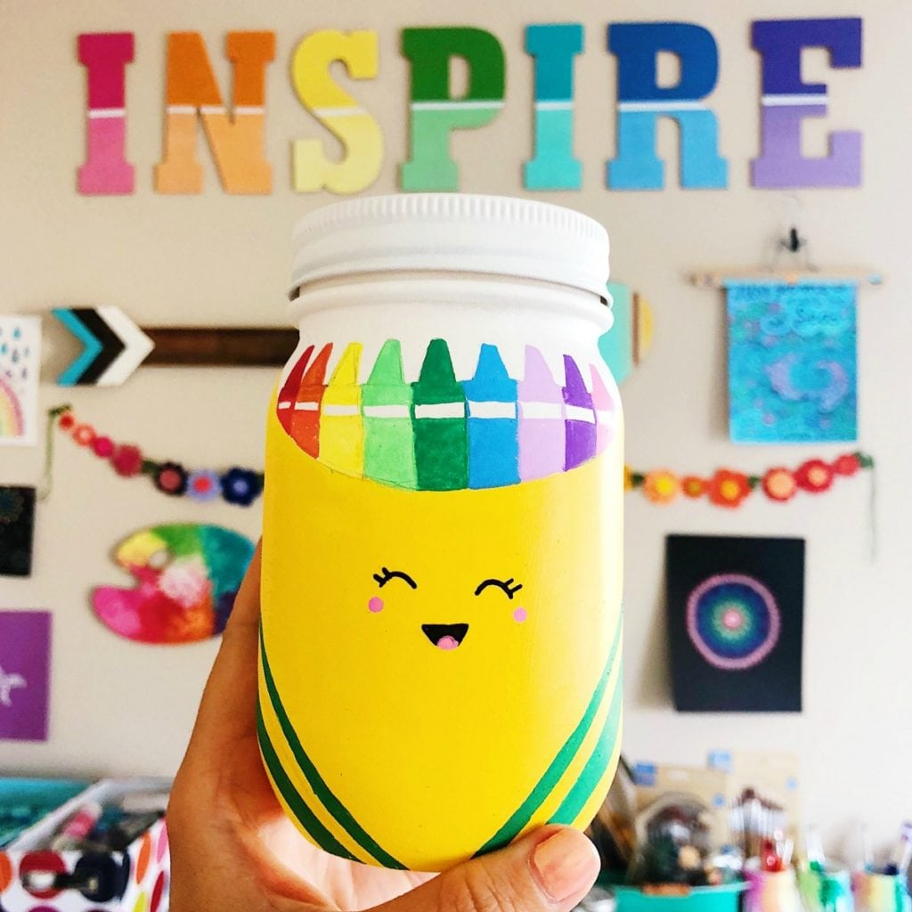 Back To School Mason Jar Craft - Teacher Gift Ideas for Back to School