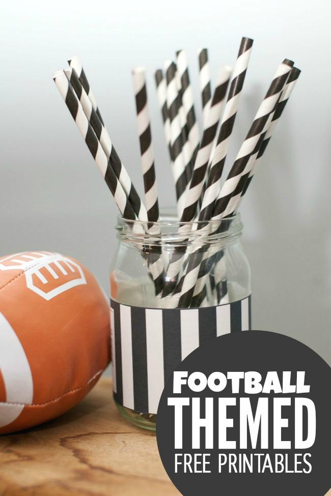 Referee Label Mason Jar - Football Party Ideas with Mason Jars - Easy was to dress up mason jar for football themed party or tailgate