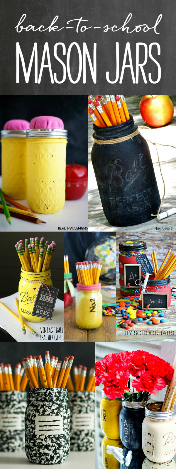 Back to School Mason Jar Crafts & Teacher Gift Ideas