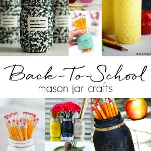 Back-To-School Mason Jar Craft Ideas - Teacher Gift Ideas - Pencil Mason Jars - Chalkboard Paint Mason Jars - Easy Homemade Teacher Gift Ideas - Mason Jar Crafts for Kids