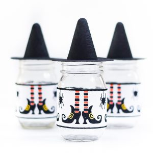 Witch Hat Mason Jar Craft - Halloween Mason Jar Craft Ideas