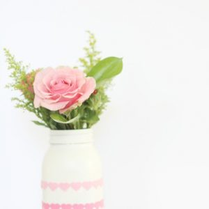 Easy Valentine Hearts Mason Jar - Simple Valentine's Day Craft Idea with Mason Jars