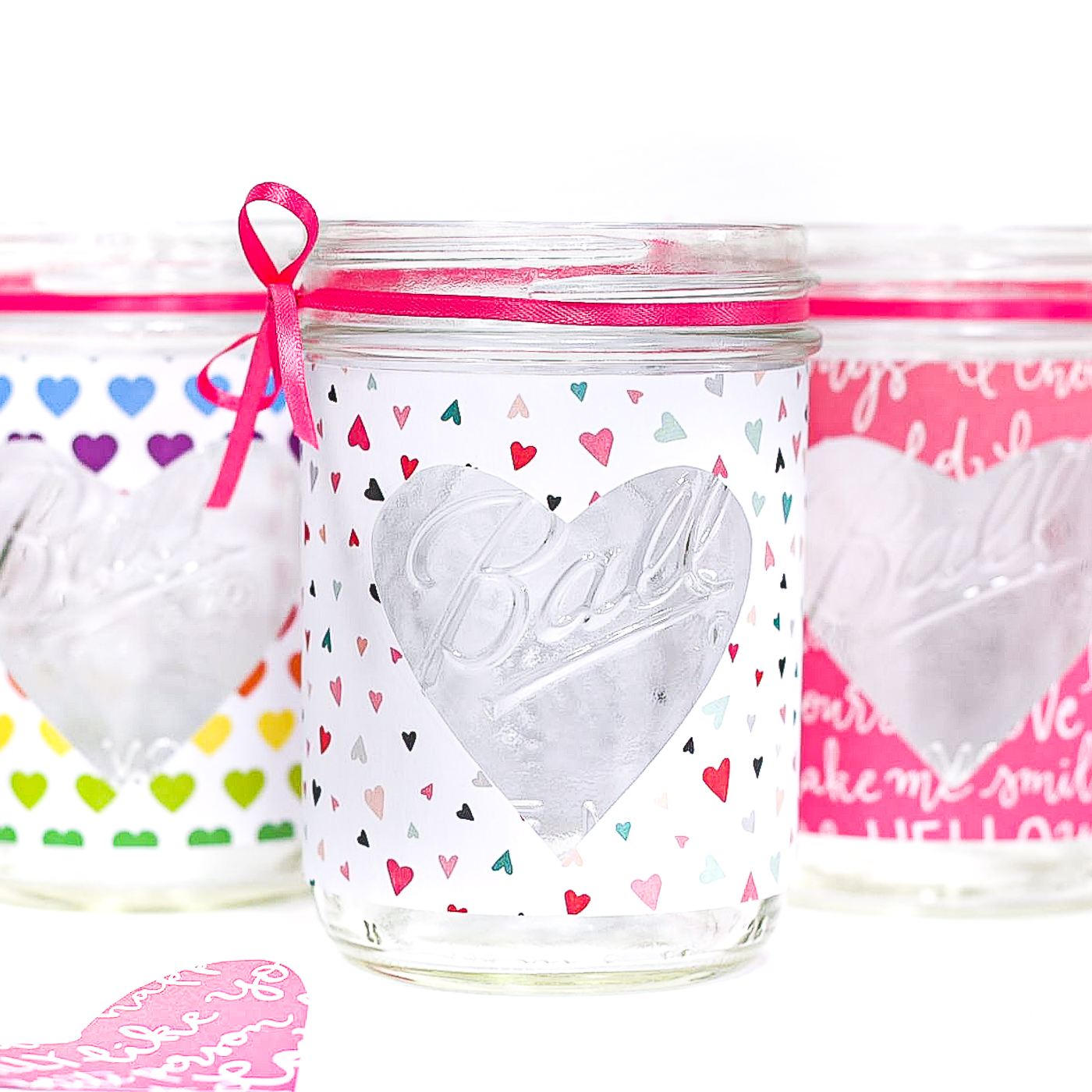 Easy Heart Cut Out Mason Jar Votive - Valentine Mason Jar Craft Ideas.
