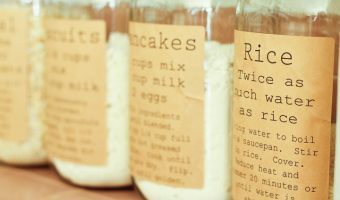 Pantry Labels with Recipes - Organizing Pantry with Mason Jars - Mason Jar Storage and Organization