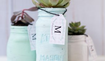 Mother's Day Mason Jar Planter & Gift Card